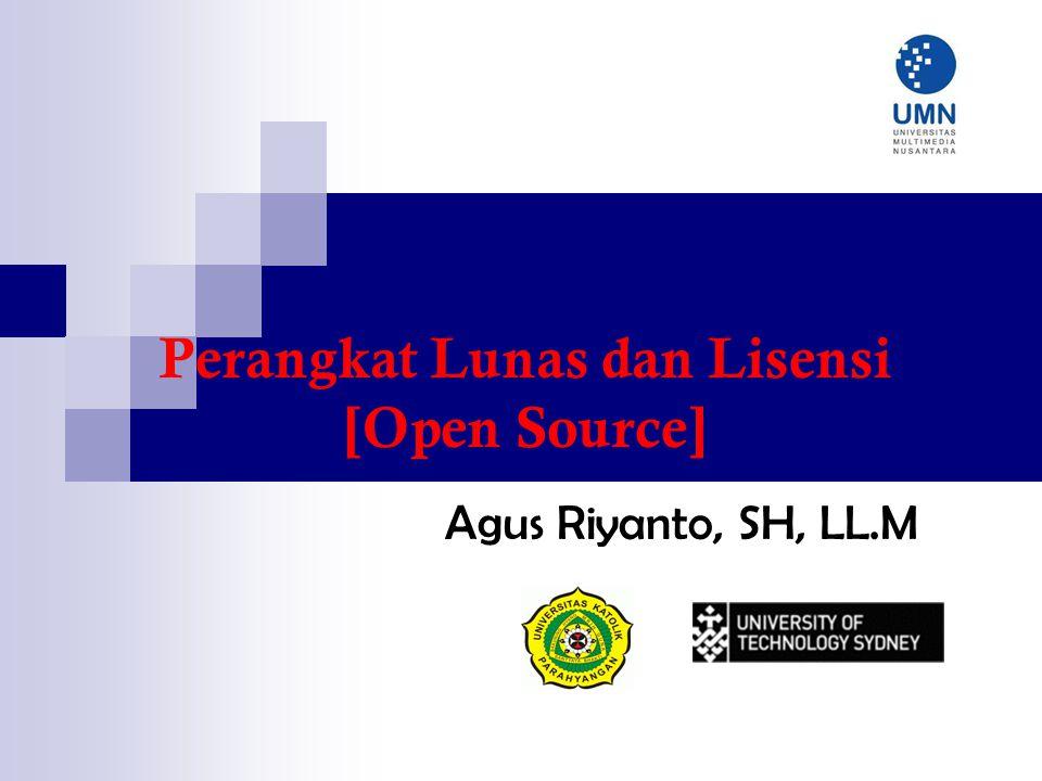 Perangkat Lunas dan Lisensi [Open Source]